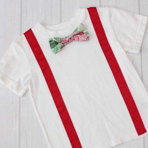 Christmas Snowflakes Bow Tie