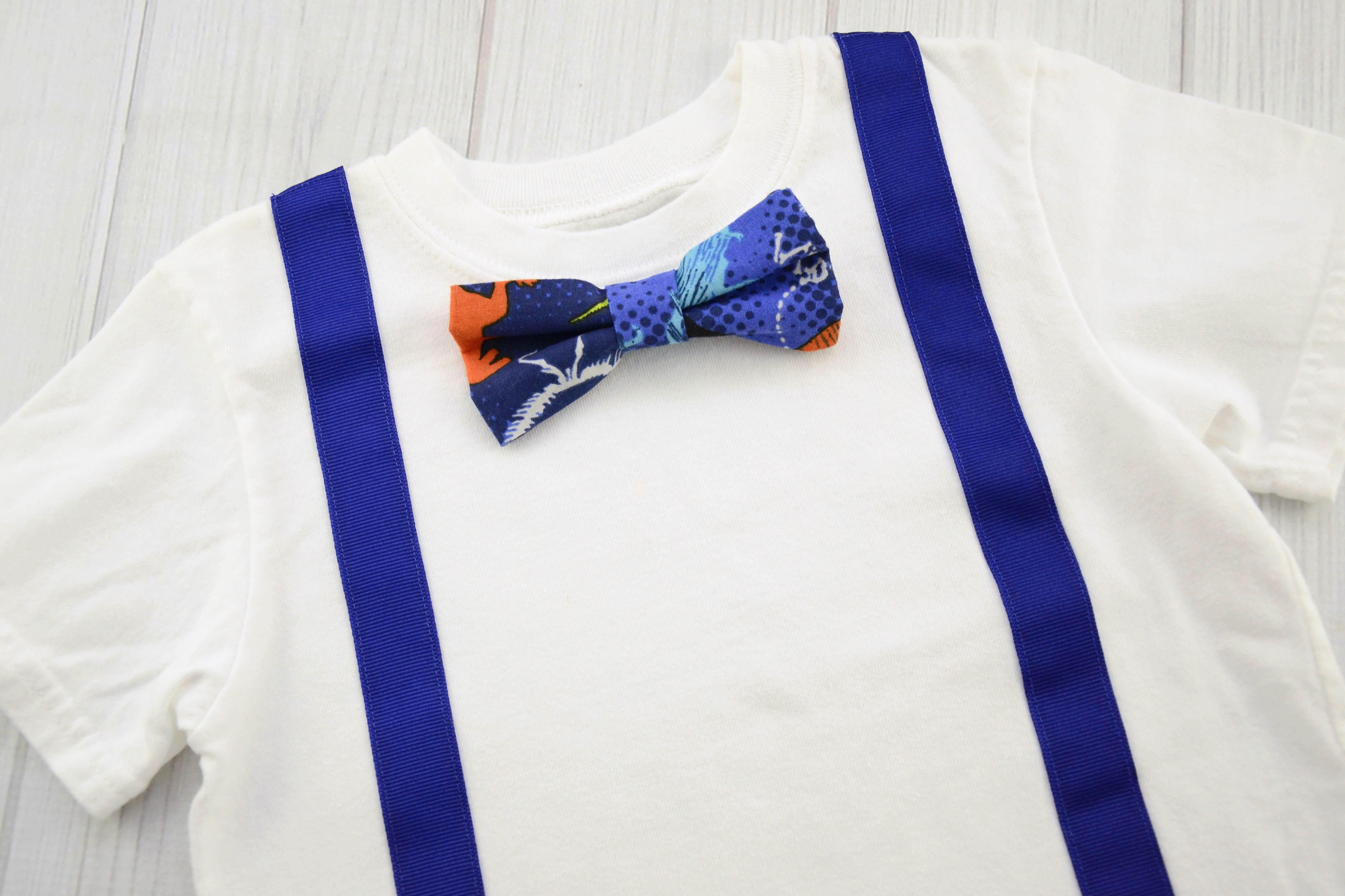 6f1f35a0d928 White Shirt With Royal Blue Bow Tie