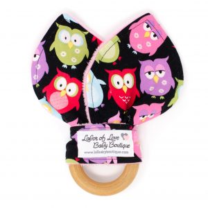 Owls Teething Ring