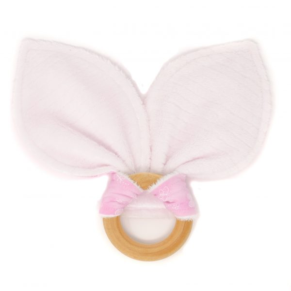 Pink Butterfly Teething Ring