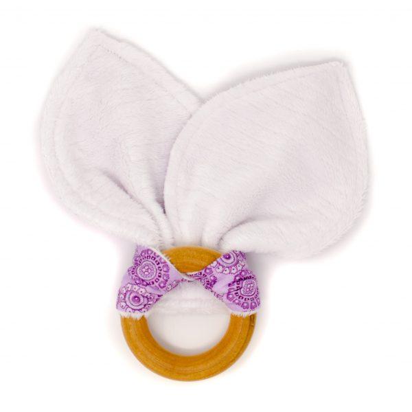 Purple Circles Teething Ring