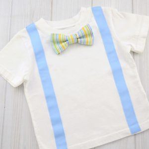Stripe Bow Tie Shirt