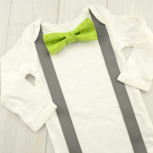 Textured Green Bow Tie Shirt