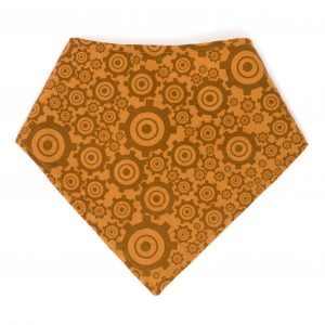 Brown Gears Bandana Bib