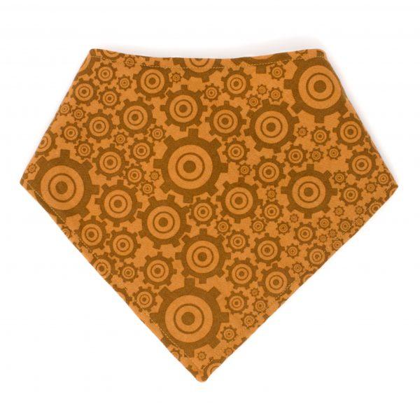 Brown Gears Bandana Bib