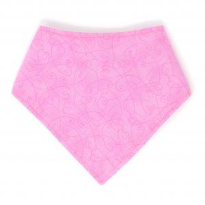 Pink Hearts Bandana Bib