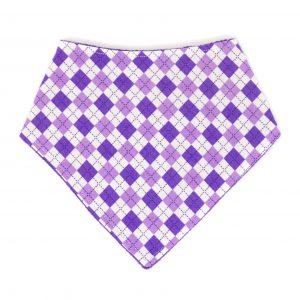 Purple Argyle Bandana Bib