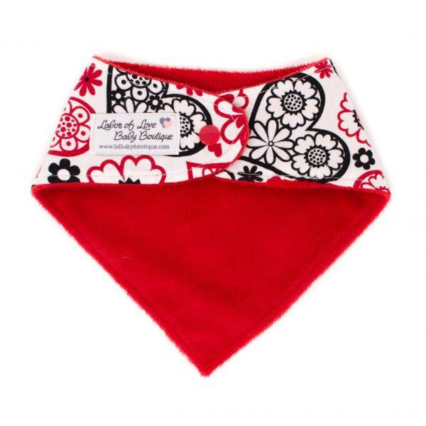 Red Hearts Bandana Bib