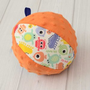Orange Monster Rattle Ball