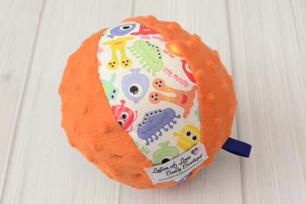 Orange Monster Rattle Ball