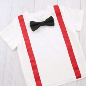 Black Bow Tie Shirt