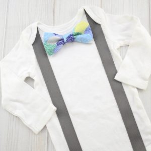 Blue Scallops Bow Tie Shirt