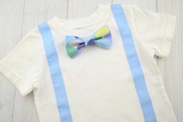 Blue Scallops Bow Tie Shirt