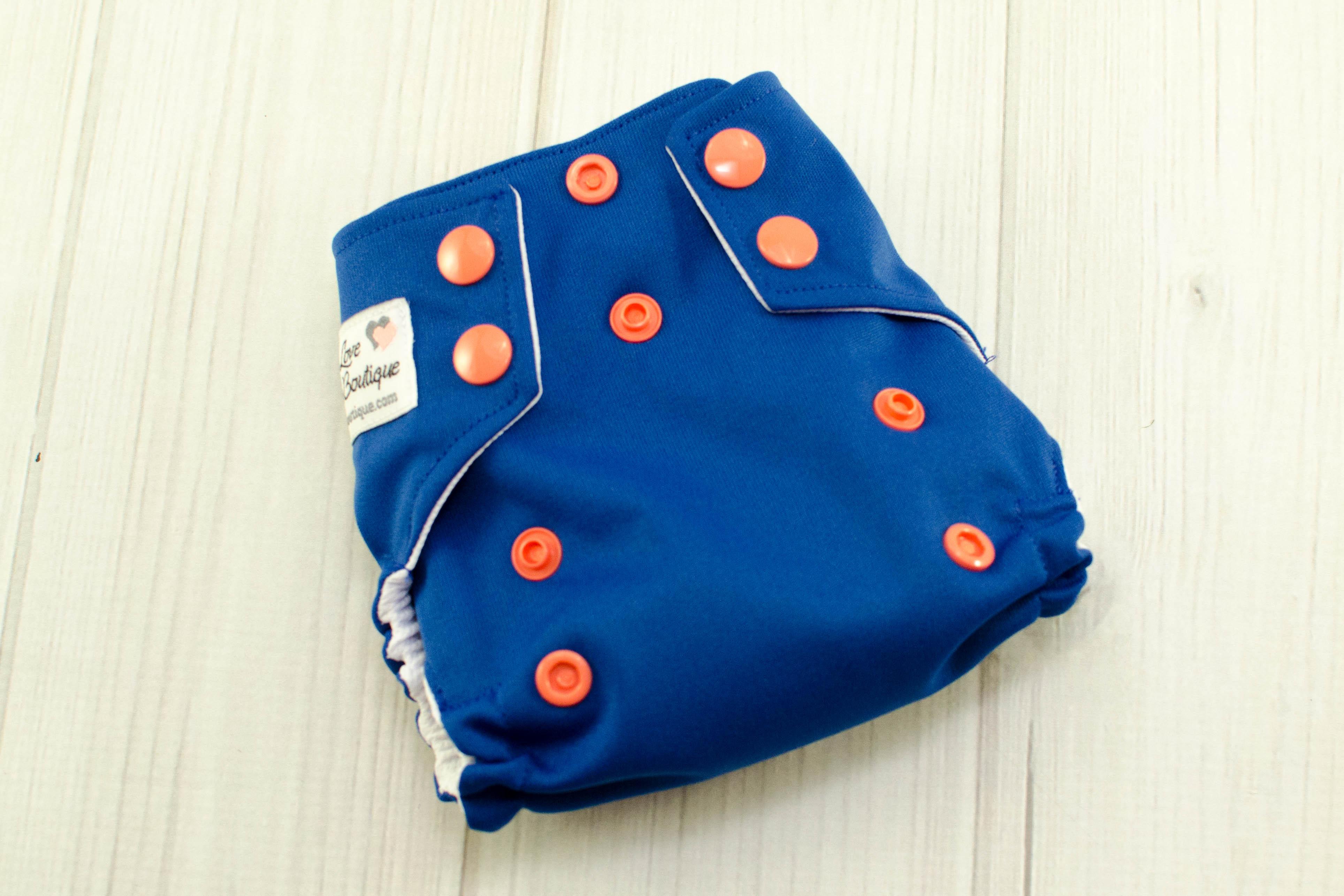 navy blue cloth diaper cover