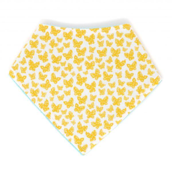 Yellow Butterfly Bandana Bib