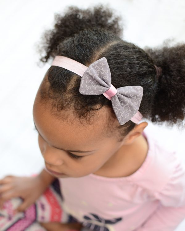 Hair Bow & Elastic Headband - Emmaleigh