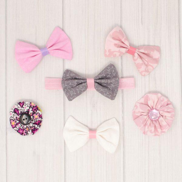 Light Pink Hair Bow Set