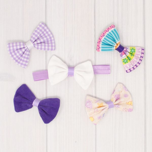 Purple Hair Bow Set