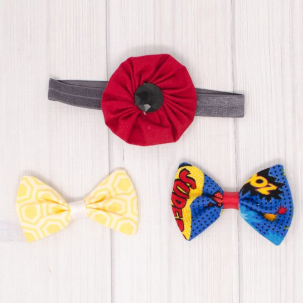 Super Hero Hair Bow Set