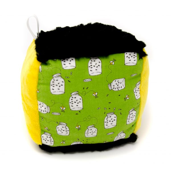 Green Fireflies Rattle Block