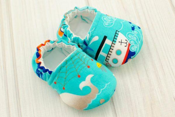 Aqua Fishing Boats Baby Shoes