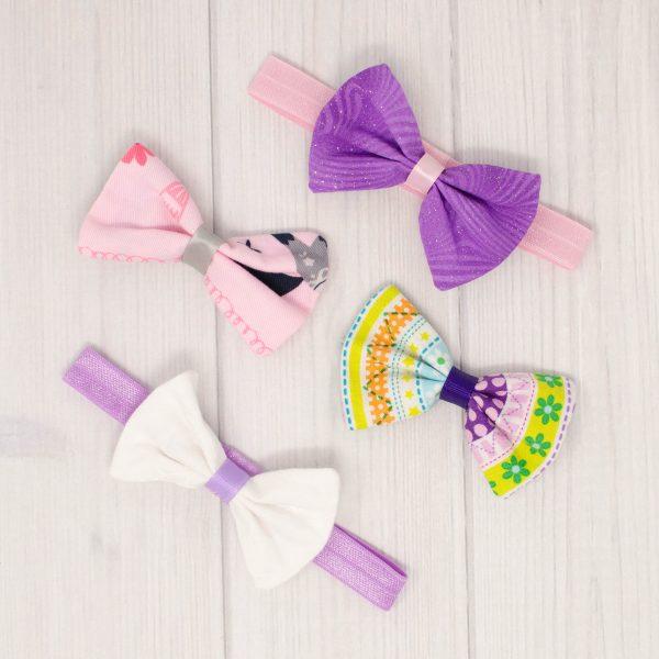 Pink & Purple Bow Set