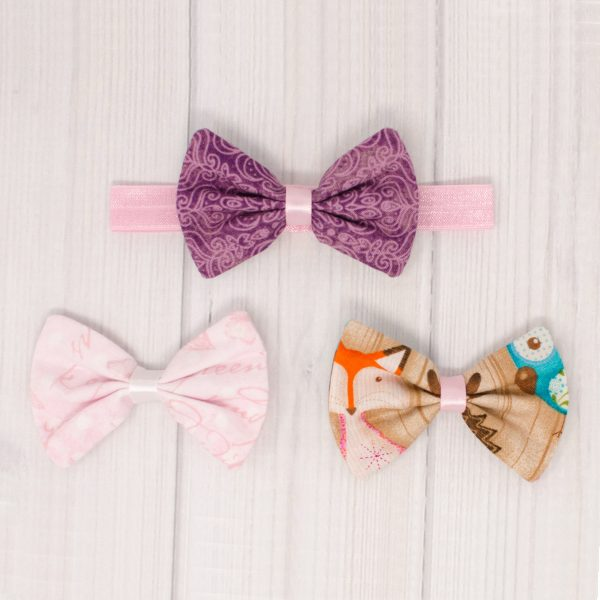 Woodland Critters Hair Bow Set