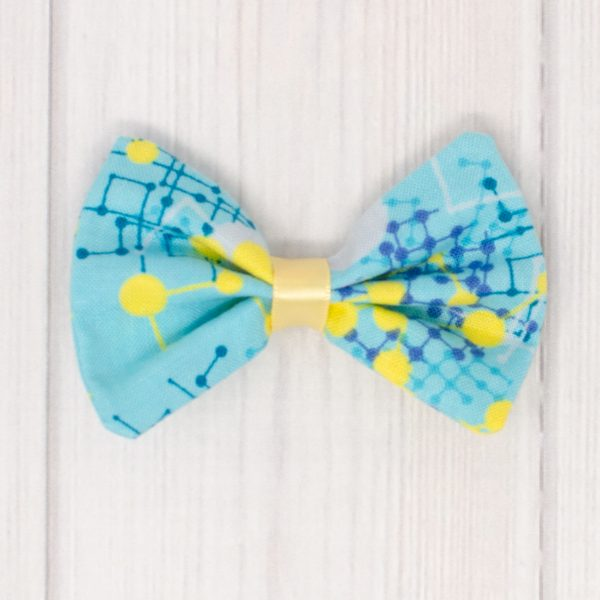Blue & Yellow Hair Bow