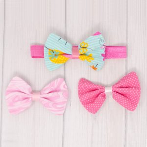 Spring Hair Bow Set