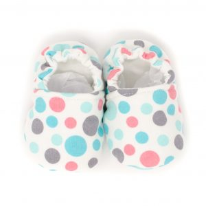 Teal & Pink Dots Baby Shoes