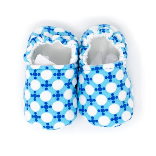 Blue Dots Baby Shoes