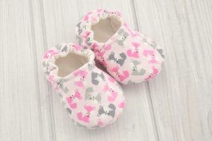 Pink Fox Baby Shoes