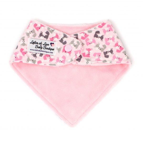 Pink Fox Bandana Bib