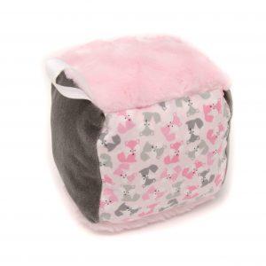 Pink Fox Rattle Block