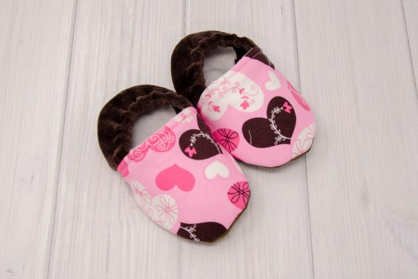 Pink & Brown Hearts Shoes