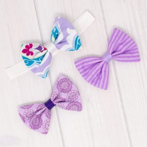 Purple Bows & Headband