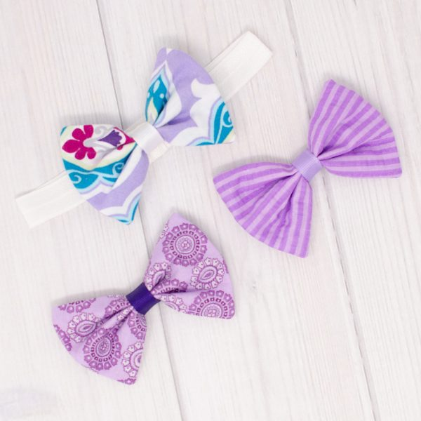 Purple Bows & Headband