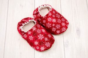 Red Snowflake Baby Shoes