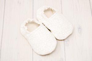White Snowflake Baby Shoes