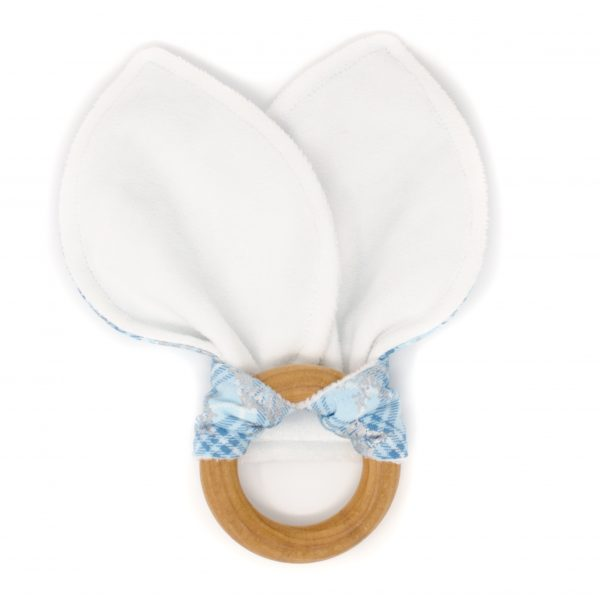 Blue Snowflake Teething Ring