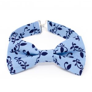Navy Vines Bow Tie