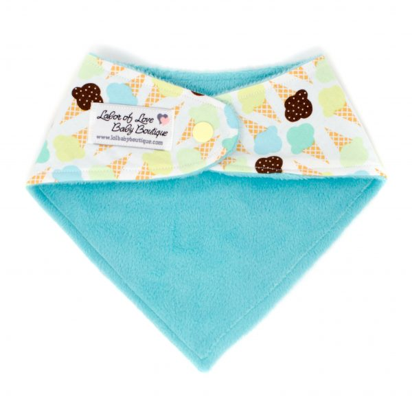 Ice Cream Cones Bandana Bib